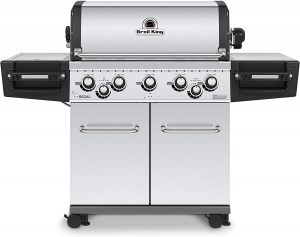 Broil King 958344 Regal S590 Pro Gas Grill, 5-Burner, Stainless Steel