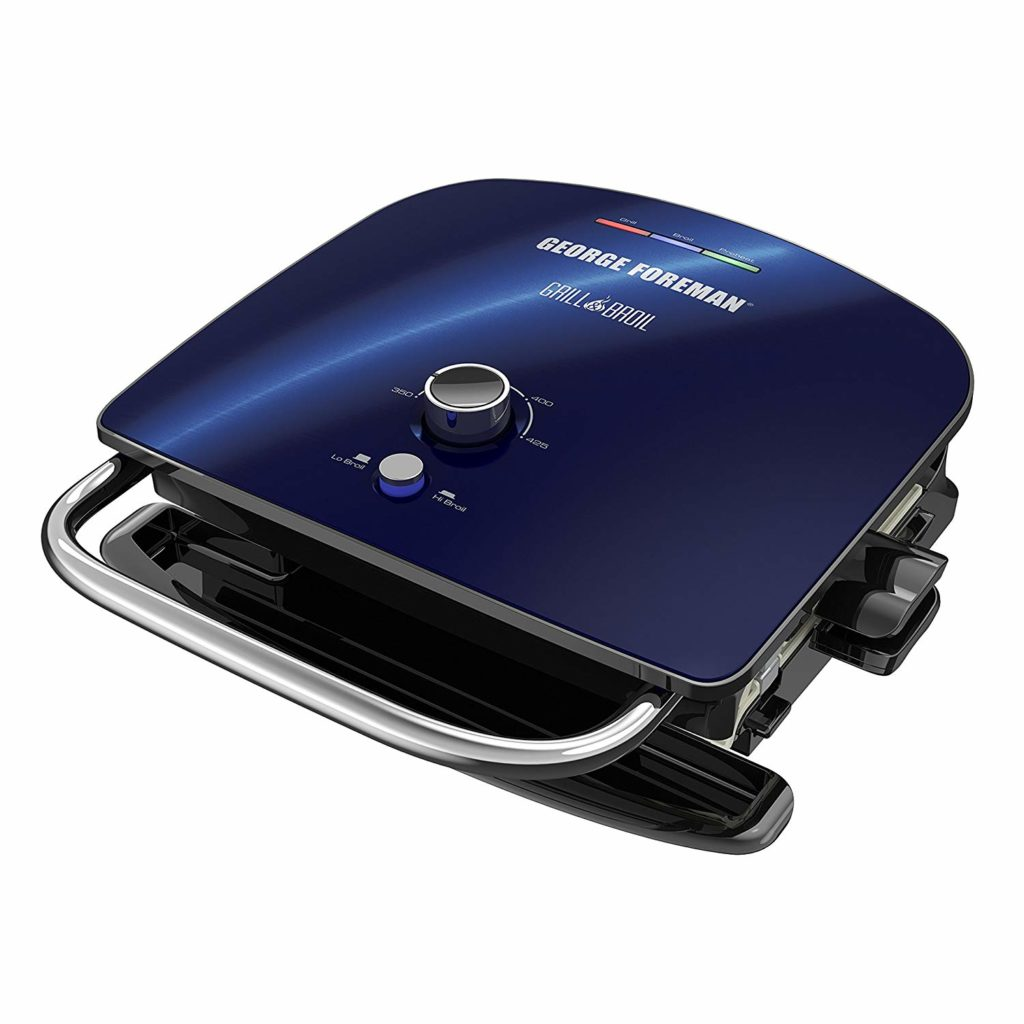 George Foreman GBR5750SCBQ Grill & Broil 7-in-1 Electric Indoor Grill