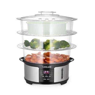 Lakeland Digital 3-Tier Electric Steamer