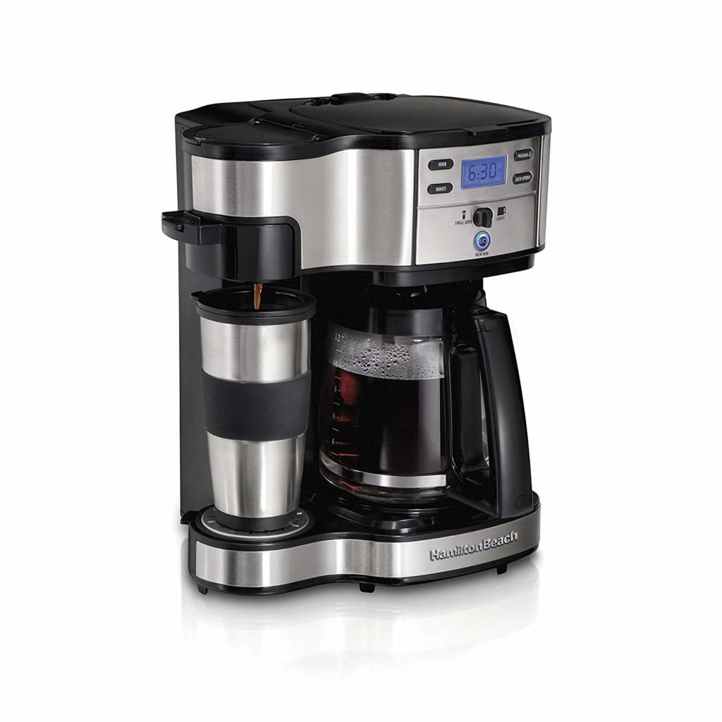 Hamilton Beach 2-Way Brewer Coffee Maker, Single-Serve and 12-Cup-